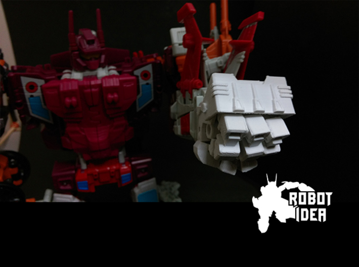 COMBINER BIG FIST LEFT 3d printed
