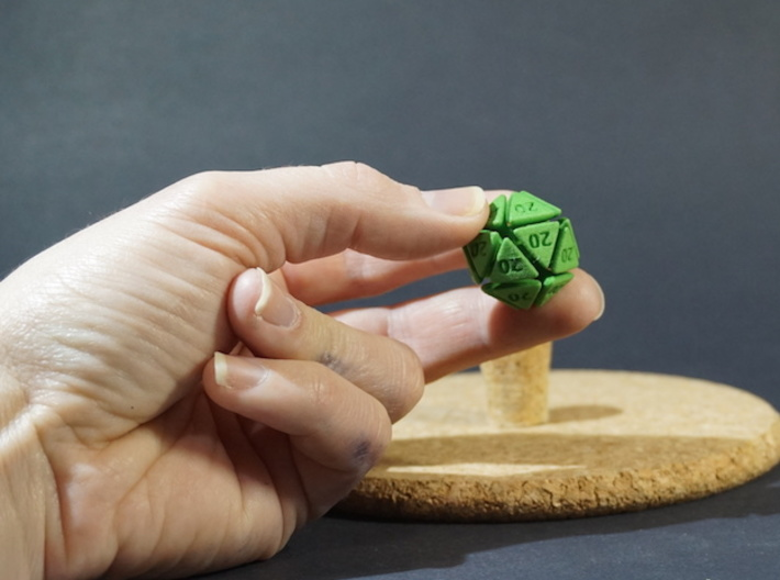 The D20 of Evil 3d printed Please excuse the ink marks on my hand. I do wash my hands regularly. Honest.