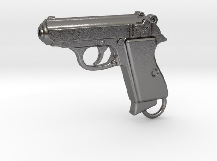 PPK Gun Keychain 3d printed