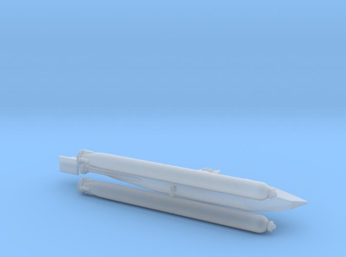 "German Midget Submarine ""Biber"" 1/144 3d printed"