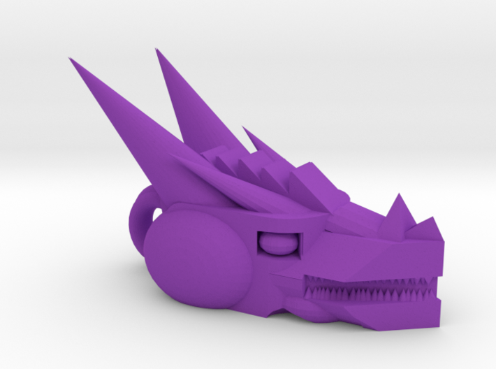 Mech Dragon head charm 3d printed