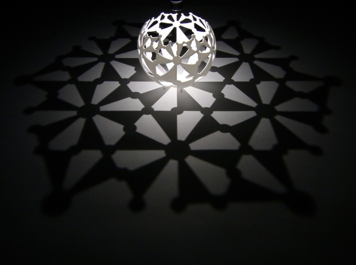 (6,3,2) triangle tiling (stereographic projection) 3d printed