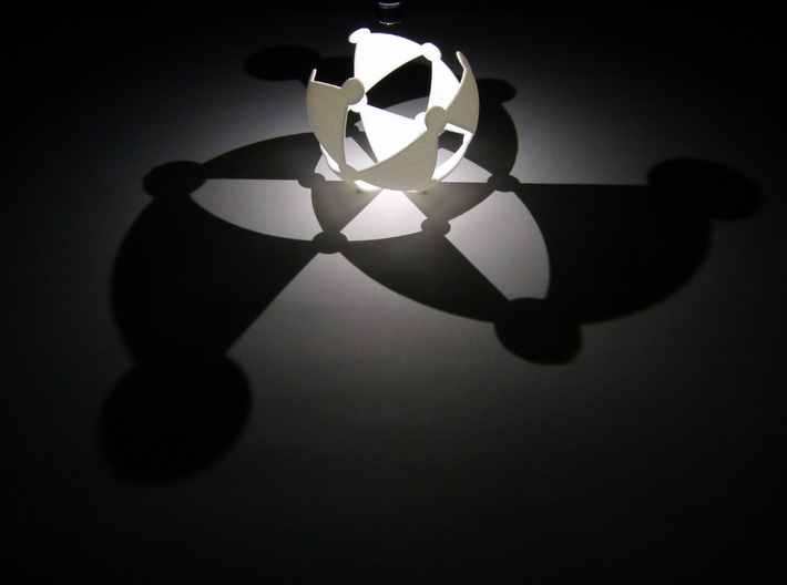 (3,3,2) triangle tiling (stereographic projection) 3d printed
