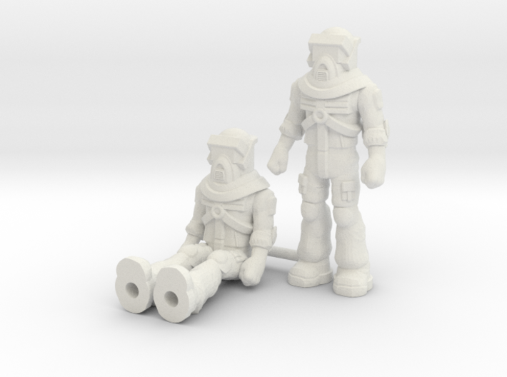 Matt Trakker 2-pack, 35mm Minis 3d printed