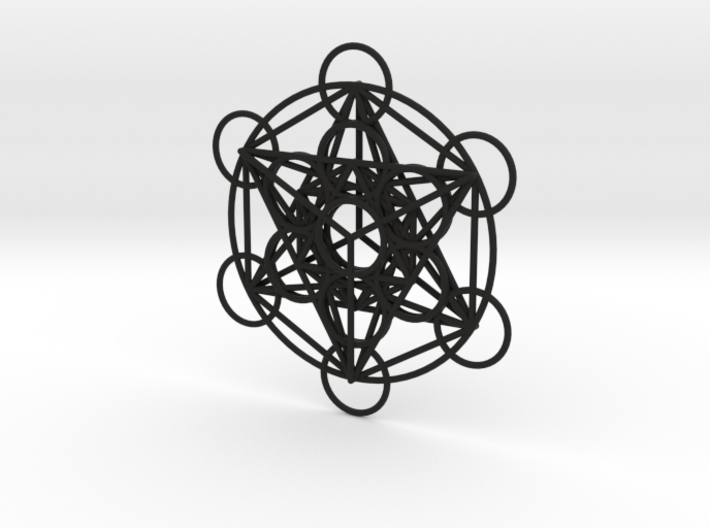 Metatron's Cube Pendant 3d printed