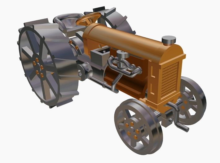 Tractor Fordson 3d printed 3D Max 8 Drawing by Walter Smith