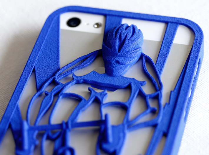 Muscular Cyclist iPhone 5/5s Case 3d printed detail of Muscular Cyclist iPhone5/5s Case in royal blue