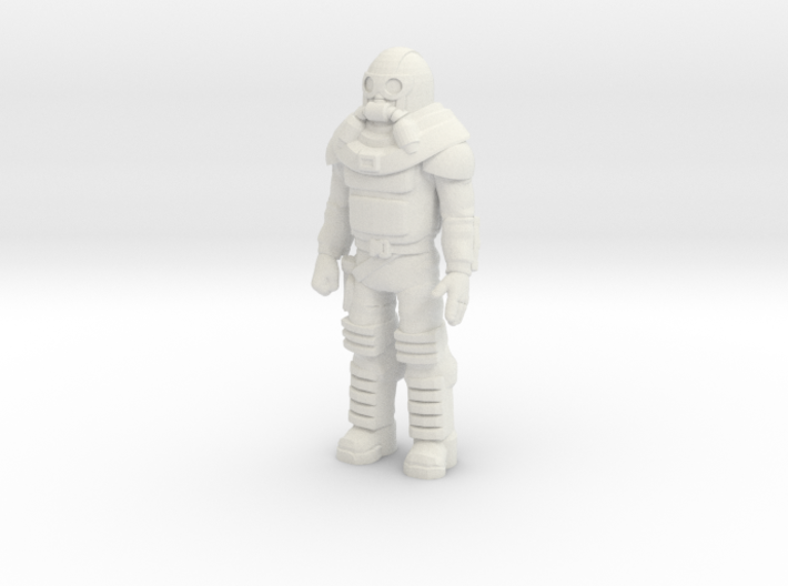 Bruce Sato, standing, 35mm Mini 3d printed