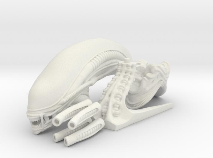 Alien Monster Bust 3d printed