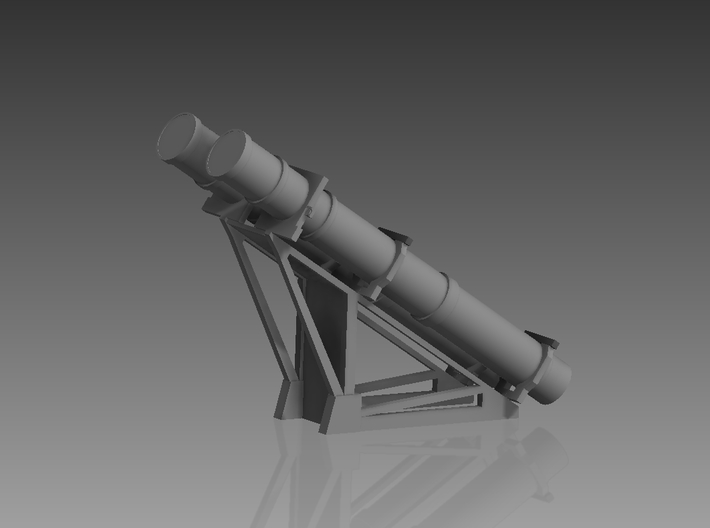 Harpoon missile launcher 2 pod 1/72 3d printed