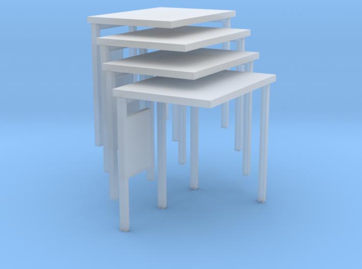 N Gauge Bus Shelter type 2 (4 pack) 3d printed