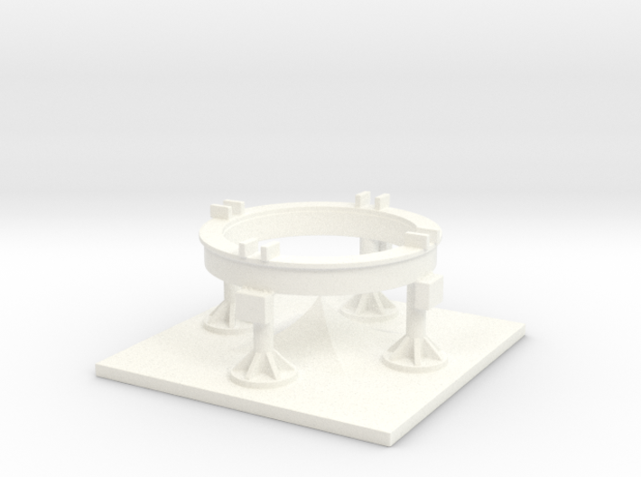 1/110 Scale Redstone/Jupiter C Launch Pad 3d printed
