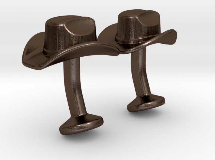 Cowboy Hat Cufflinks 3d printed