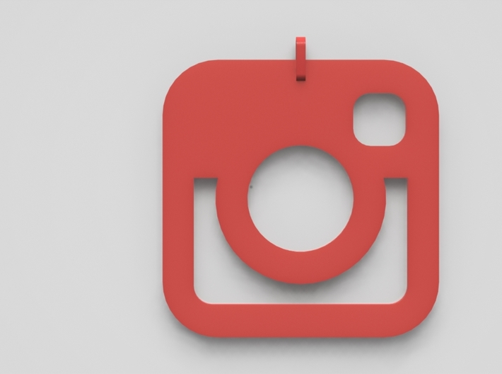 Instagram Pendent 3d printed Red Plastic