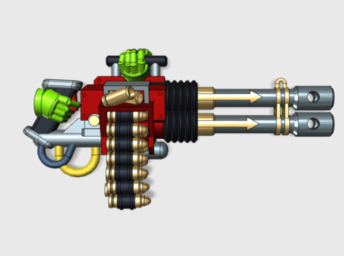 Chaos Anger Cannon wPack 3d printed