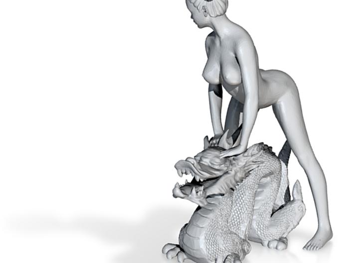 Dragon+girl 3d printed