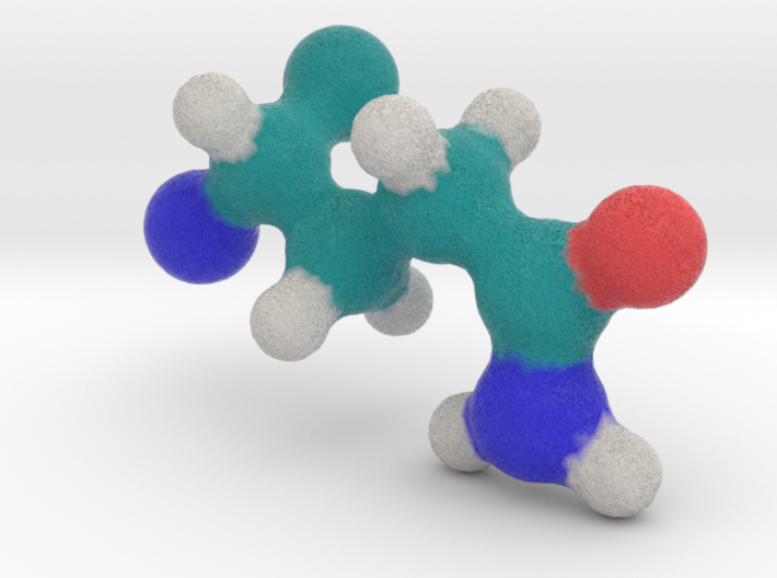Amino Acid: Glutamine 3d printed