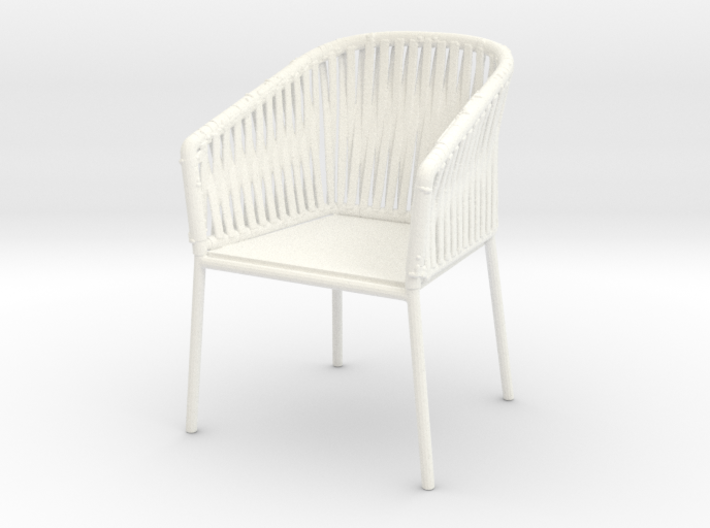 1:12 Chair Braided for patio or inside 3d printed