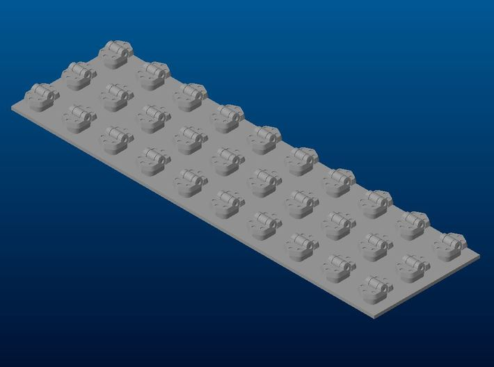 Hinges for German WWII Armour 3d printed