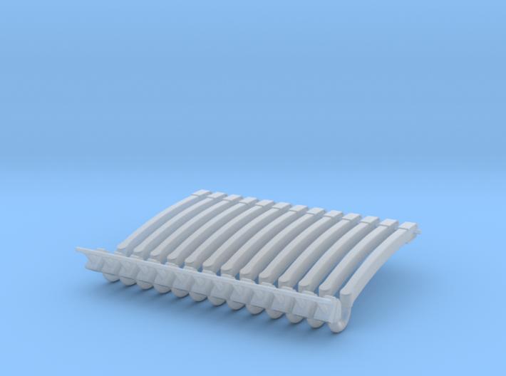 (12) GREEN MODERN FLASHER BARS 3d printed