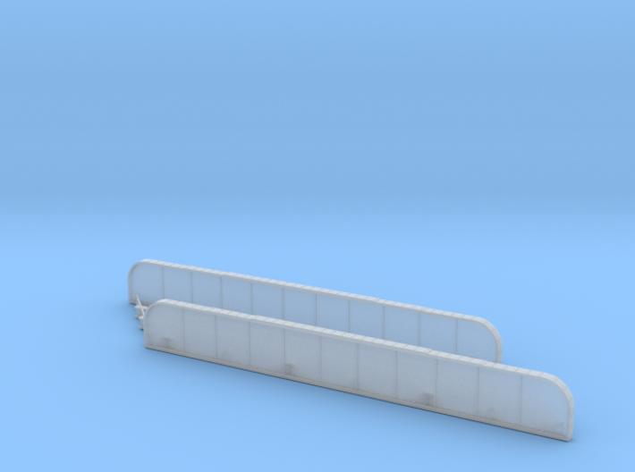 n-scale bridge mono track right 3d printed