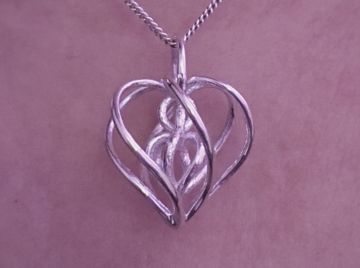 My Heart is Yours Pendant 3d printed