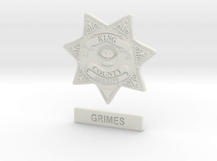 Walking Dead sheriff Grimes badge 3d printed