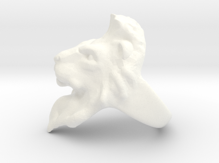 Lion Ring 18.98mm (size 9) 3d printed