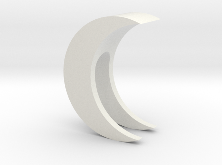 Crescent Moon Webcam Privacy Shade / Cover / Charm 3d printed