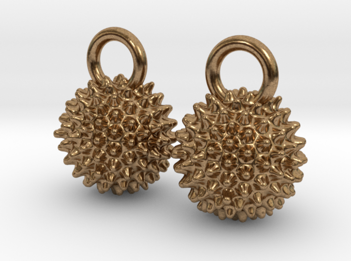 Ragweed Pollen Earrings 3d printed