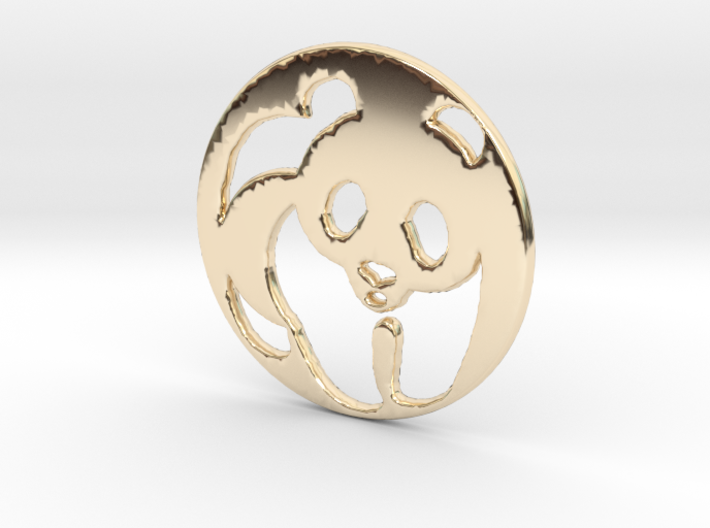 The Panda Pendant 3d printed