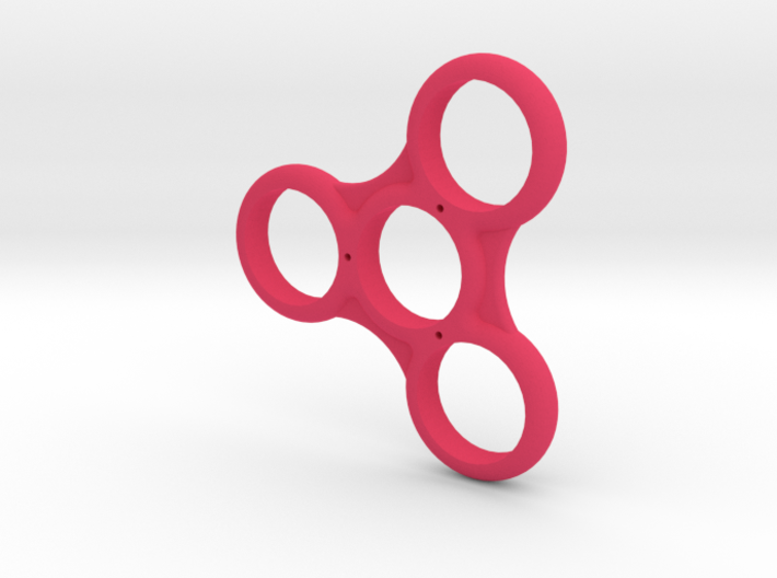 Triple Ribbed Fidget Spinner 3d printed