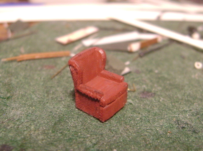 HO Pullman Parlor Car Seating Kit 3d printed In FUD-plastic, the details may be a bit rough.  Nothing that a file wouldn't make short work of.