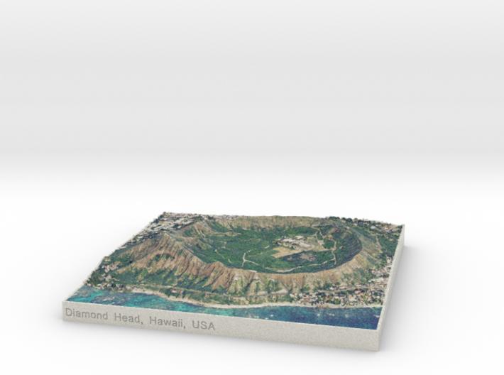 Diamond Head, Hawai'i, USA, 1:15000 3d printed