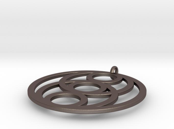 6 Circles Pendant 3d printed