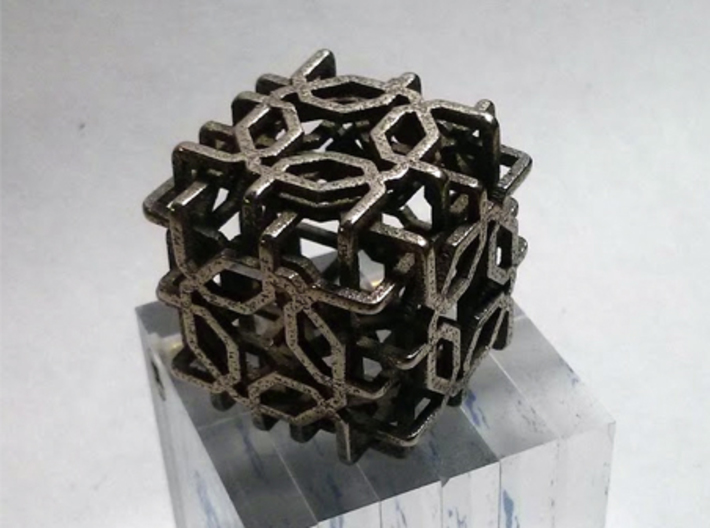 Two-layer Islamic geometric charm 3d printed