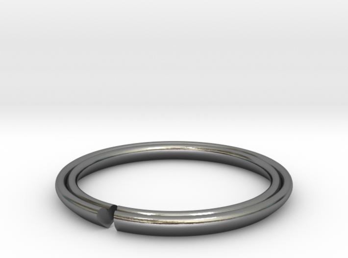 Secret Hidden Heart Ring (Size 5) 3d printed