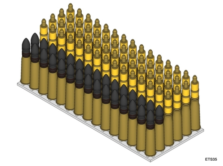 ETS35D02 - 90x 37 mm SA38 Rounds [1/35] 3d printed Content