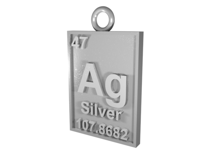 Silver periodic table pendant k4uj89axt by cbertucio silver periodic table pendant 3d printed cgi rendering of the silver pendant urtaz Gallery