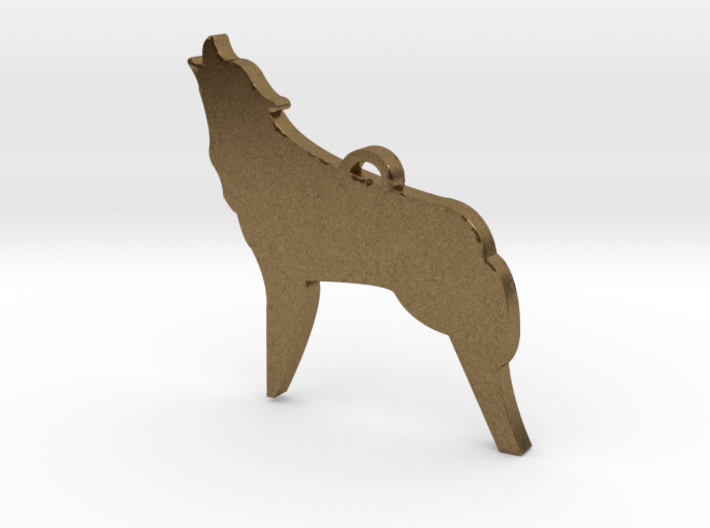 Fierce As The Night Coyote™ Charm 3d printed