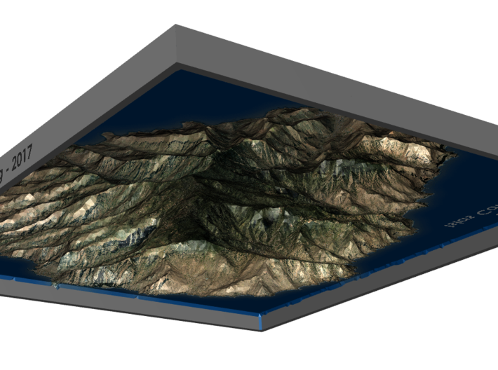 La Gomera Map, Canary Islands - Large 3d printed