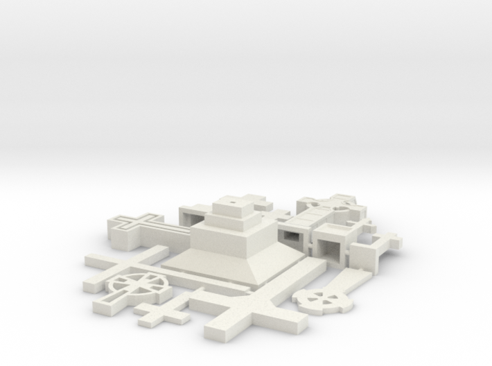 HO/1:87 Cemetery set 1 - crosses kit 3d printed