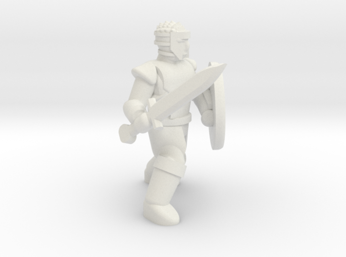 General Fighter Mini (Sword and Shield) 3d printed