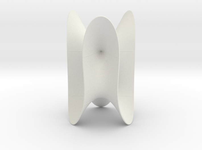 Cubic KM 35 cylinder cut with lines 3d printed