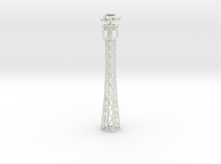 light tower with holes for leds to be installed 3d printed