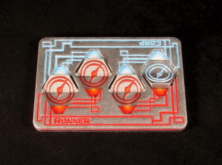Click Tracker - Runner/Corp 3d printed Hand-painted White Strong Flexible