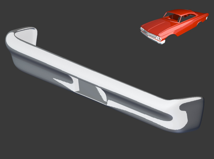 Ford Starliner 1961 Rear Bumper 1/8 3d printed