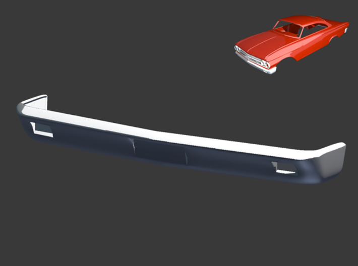 Ford Starliner 1961 Front Bumper 1/8 3d printed