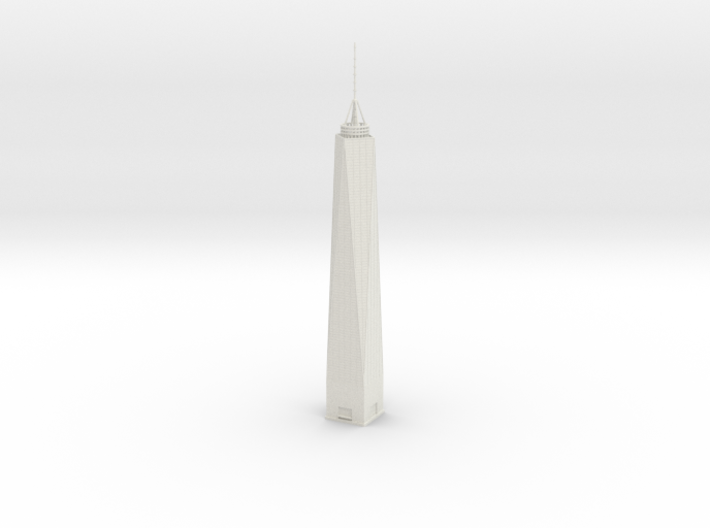 One World Trade Center (1:2000) 3d printed Assembled model.