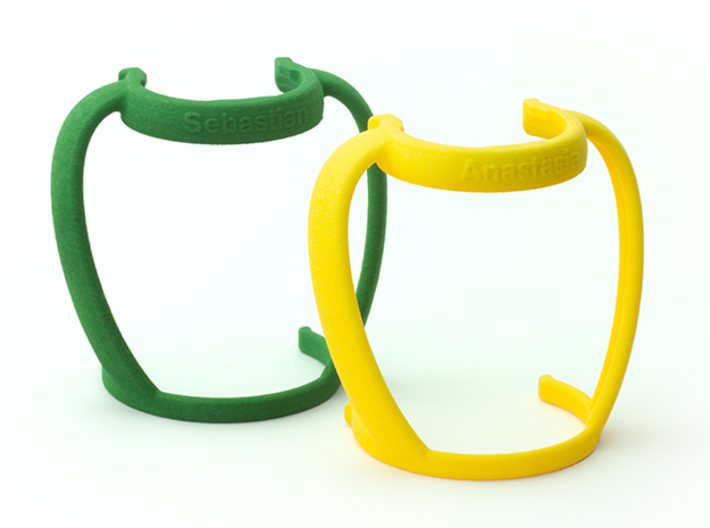 Bottle Handles for Medela 3d printed Customize by choosing your favorite color and embossing your child's name.